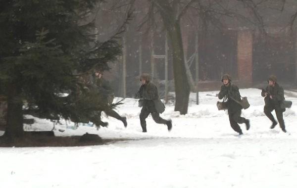 Zimowe manewry w Sobieszynie