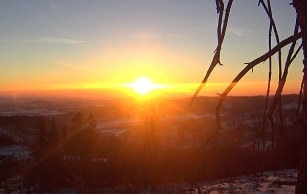 Biskupia Kopa – wschód słońca 4K