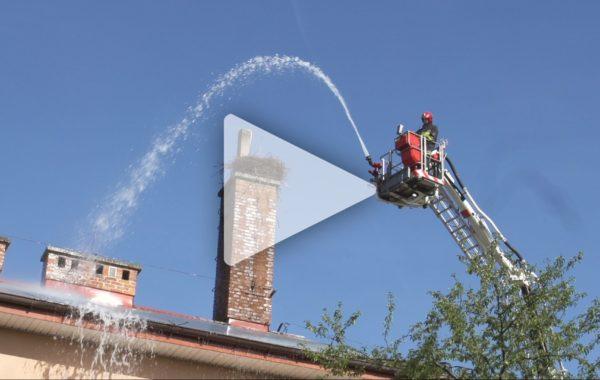 Ćwiczenia strażackie w Celinach