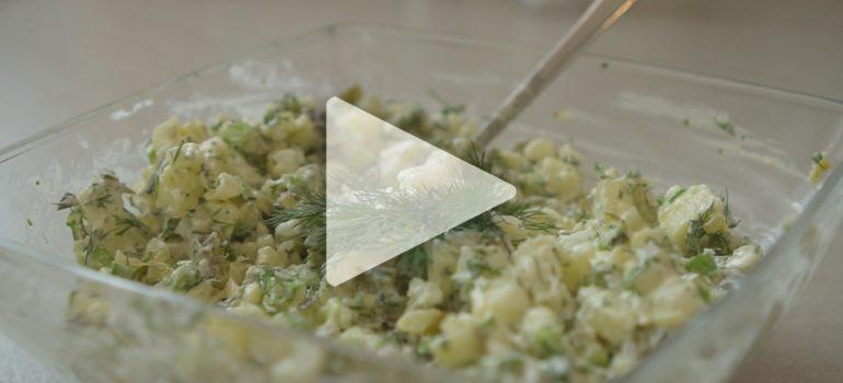 Kuchnia z klimatem – Sałatka warzywno-ziołowa