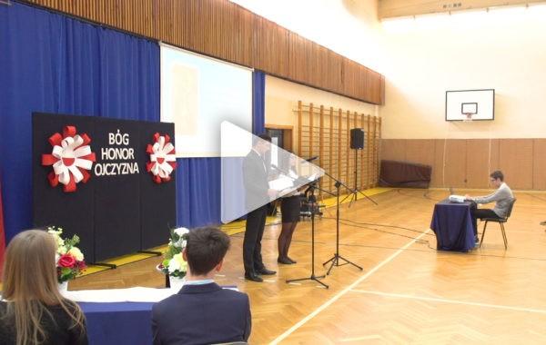 Wykład o Ojczyźnie i konkurs recytatorski w IV Lo w Łukowie
