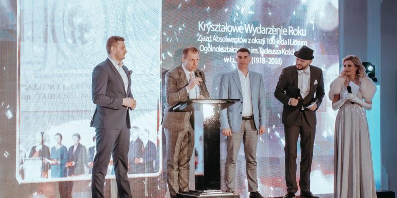 Kryształowym Wydarzeniem roku został Zjazd Absolwentów z okazji 100-lecia I Liceum Ogólnokształcącego im. Tadeusza Kościuszki w Łukowie (1918 – 2018)