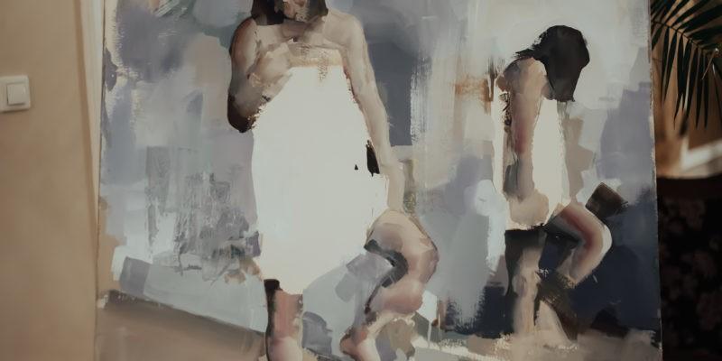 Po drugim ciepłym posiłku mogliście Państwo wziąć udział w aukcji charytatywnej, w której do wylicytowania były trzy dzieła sztuki przygotowane specjalnie na galę przez regionalnych artystów. Na zdjęciu widnieje delikatny akt wykonany techniką olejną, autorem jest Marcin Ziółkowski. Obraz ten został wylictowany na kwotę 3650 zł!