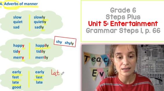 Adverbs of Manner: Klasa VI (Lekcja 2/2) | Angielski dla dzieci i młodzieży
