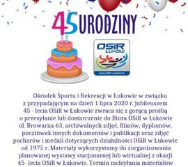 45 urodziny OSiR